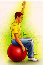نشستن روی توپ