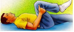 کشش یک زانو به سمت سینه
