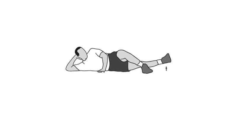 نزدیک کردن ران به بدن بازتوانی زانو