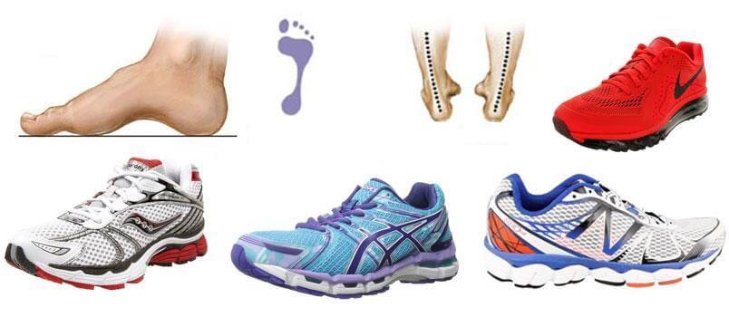 کفش مناسب برای کف پای گود