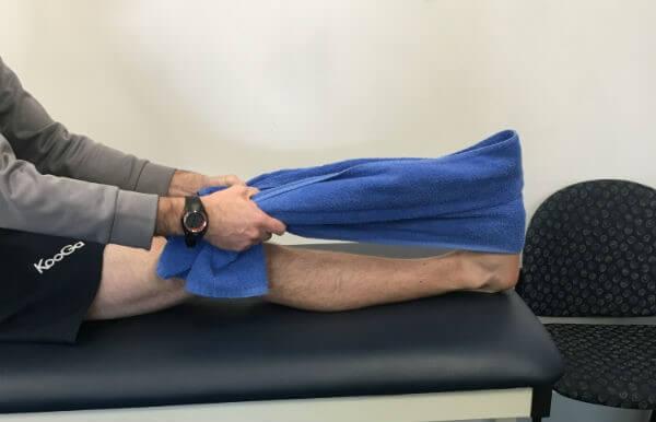 کشش ساق پا بعد از عمل زانو