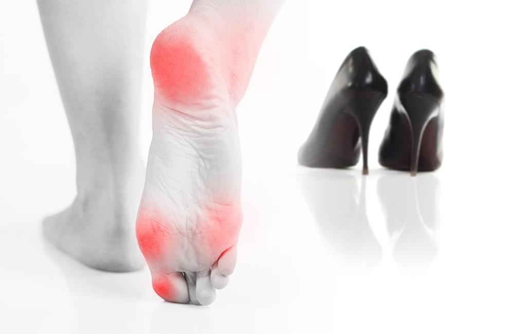 عوارض کفش سفت و نامناسب